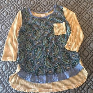 Anthropologie top 3/4 sleeve. Sz M